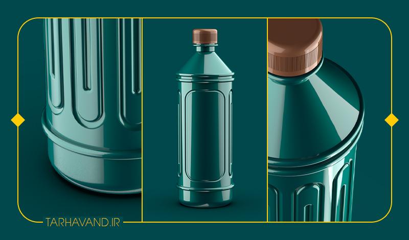 طرح بطری ردیف یک لیتری