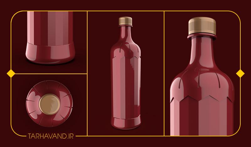 طرح بطری یاقوت یک لیتری