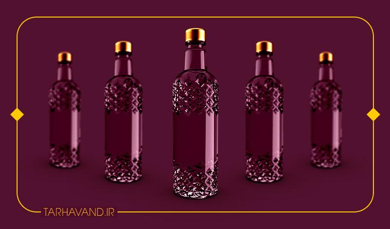 طرح بطری عقیق یک لیتری