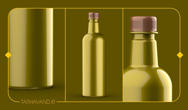 طرح بطری امرد یک لیتری