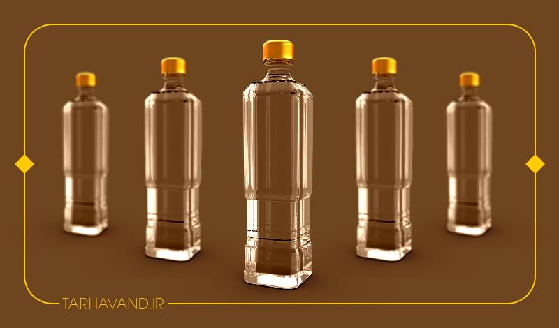 طرح بطری کیوب یک لیتری