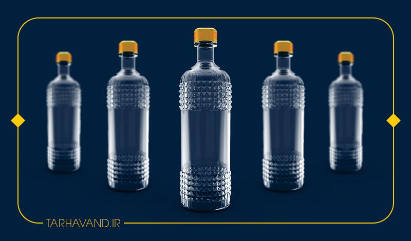 طرح بطری کهربا یک لیتری