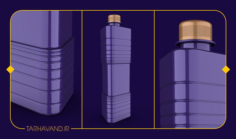 طرح بطری لچک یک لیتری
